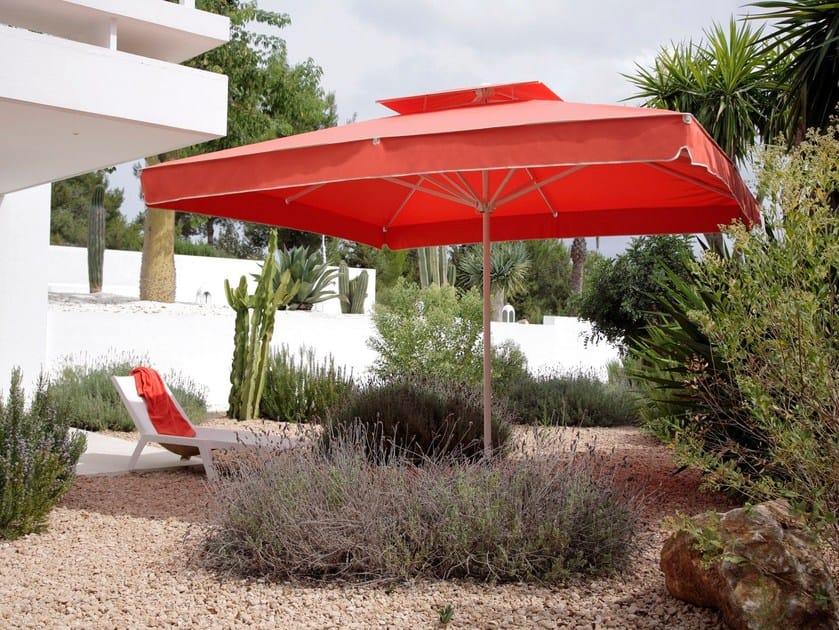 Rechteckiger Gartenschirm aus Acrylgewebe PRIMUS | Rechteckiger Gartenschirm by Caravita