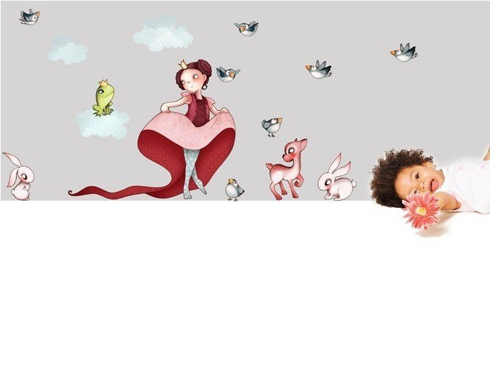 Kids wall sticker PRINCESS by ACTE-DECO