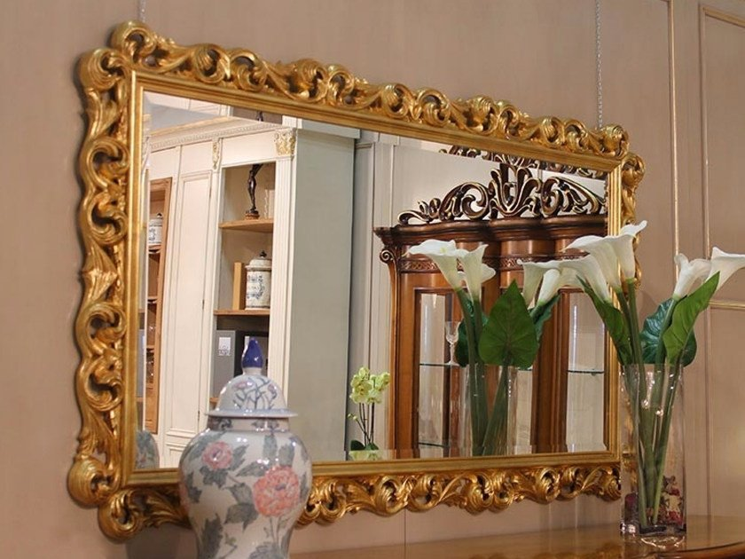 Rectangular wall-mounted framed mirror PRINCESS | Mirror by Arvestyle