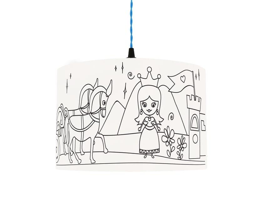Drum shaped lampshade for children PRINCESS KINGDOM by Mullan Lighting