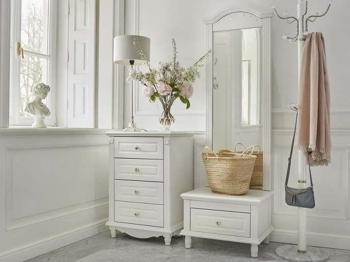 Freestanding rectangular framed wooden mirror PRINCESS | Freestanding mirror by Arrediorg.it®