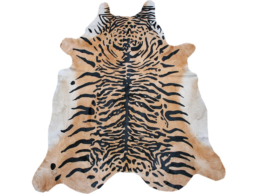 Handmade cowhide rug PRINTED BENGAL TIGER by EBRU