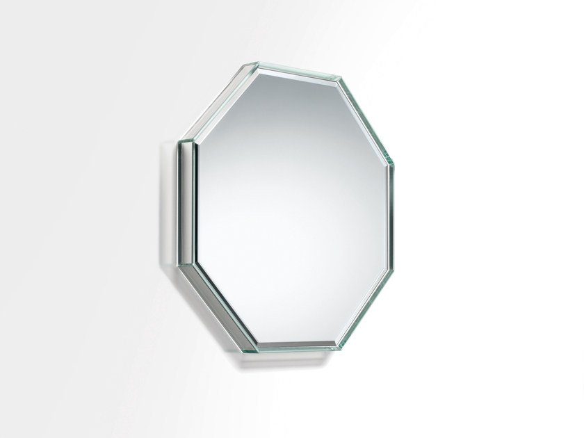 Wall-mounted framed mirror PRISM MIRROR SPECCHI by Glas Italia