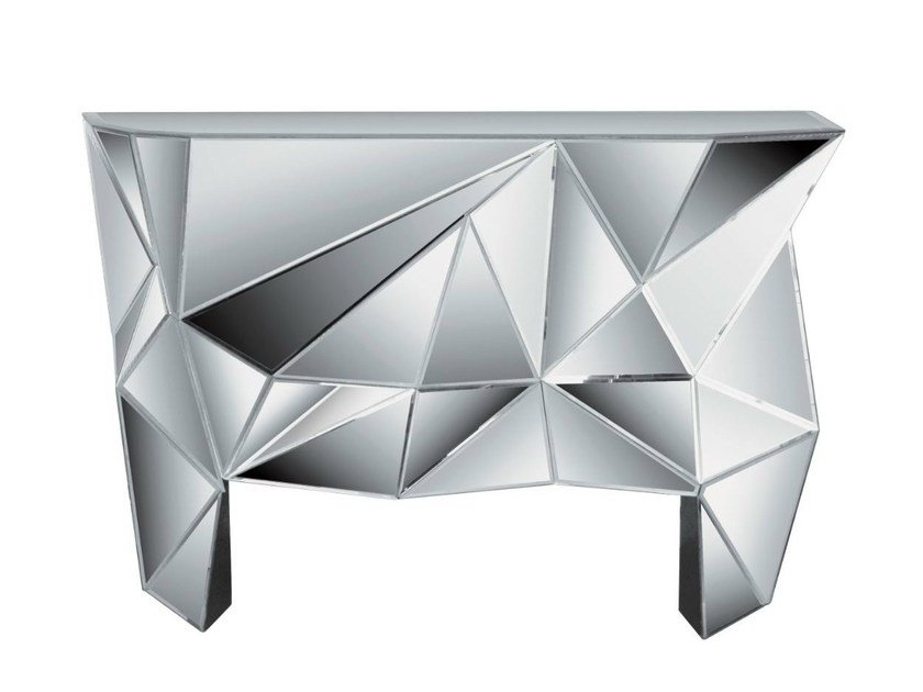Mirrored glass console table PRISMA | Console table by KARE-DESIGN