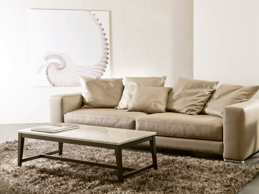 Rectangular marble coffee table PRISMA by Pacini & Cappellini