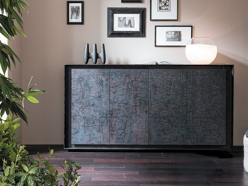 Sideboard with folding doors PRIVACY | Resin sideboard by Capo d'Opera