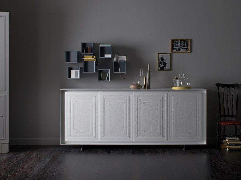 Sideboard with folding doors PRIVACY | Lacquered sideboard by Capo d'Opera