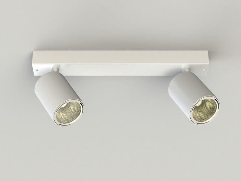 LED multiple adjustable extruded aluminium spotlight PRO IN FOCUS 2-3 SPOTS by LUCIFERO'S