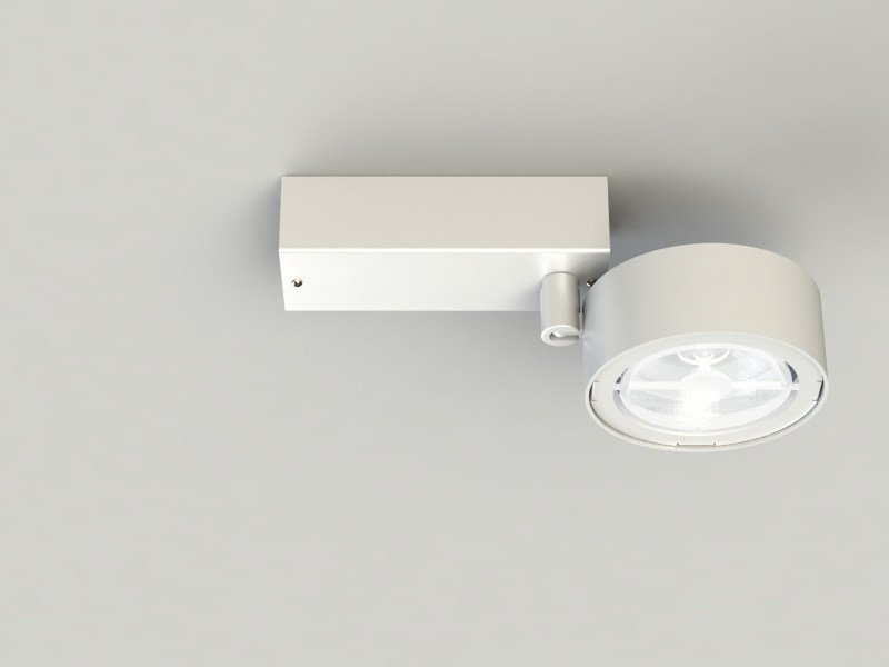 Adjustable extruded aluminium spotlight PRO IN QR-LP111P by LUCIFERO'S