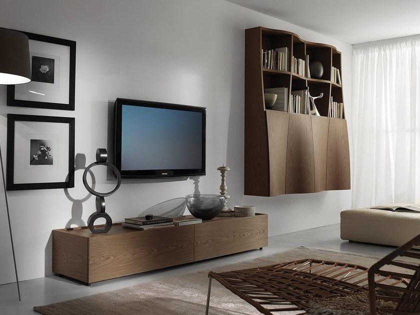 Wall-mounted storage wall LALTROGIORNO 806 by TUMIDEI