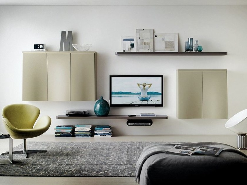 Sectional wall-mounted storage wall LALTROGIORNO 807 by TUMIDEI