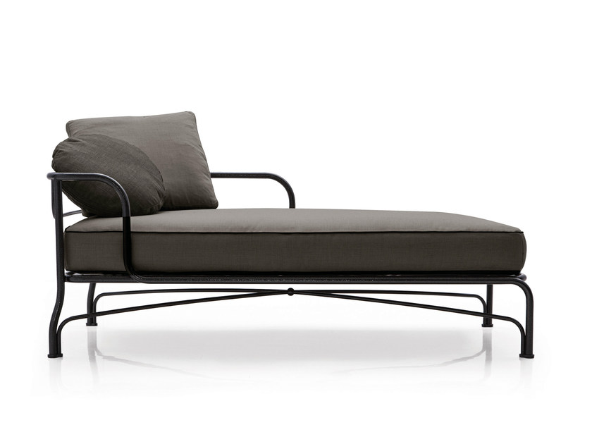 Outdoor bed LE PARC CHAISE LONGUE by Minotti