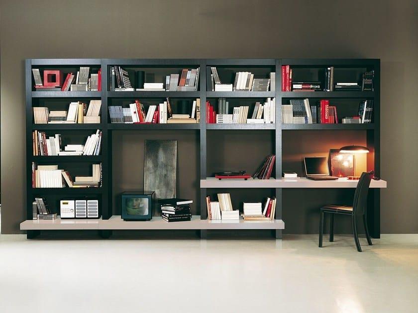 Storage wall with secretary desk LALTROGIORNO 813 by TUMIDEI