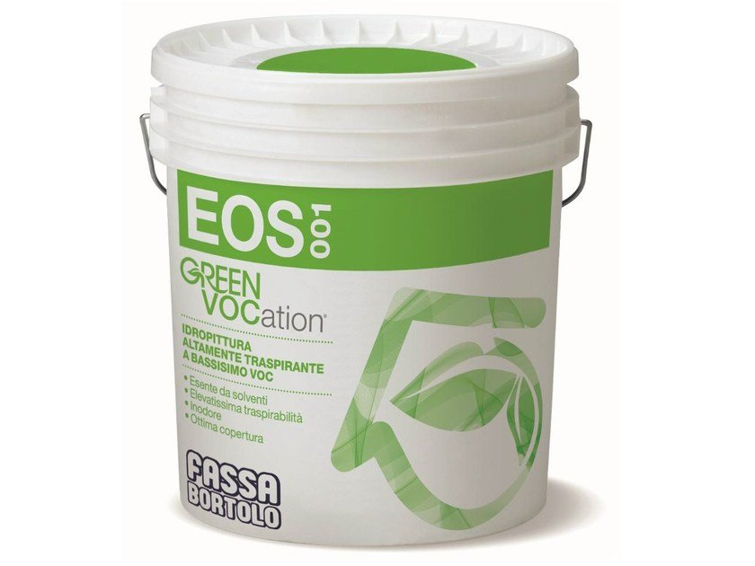 Breathable water-based paint EOS 001 by FASSA