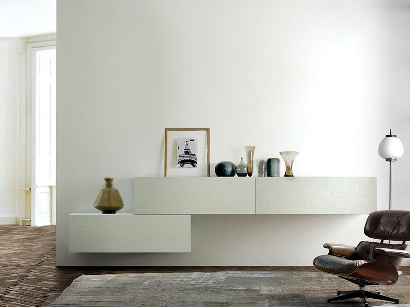 Lacquered suspended sideboard LALTROGIORNO 850 by TUMIDEI