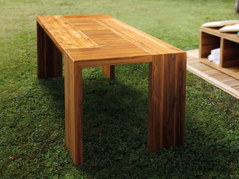 Rectangular garden side table TURTLE.04 by MENOTTI SPECCHIA
