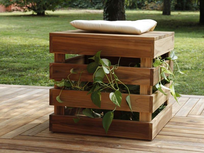Wooden garden stool SEDUTA PORTA OGGETTI TURTLE.01 by MENOTTI SPECCHIA