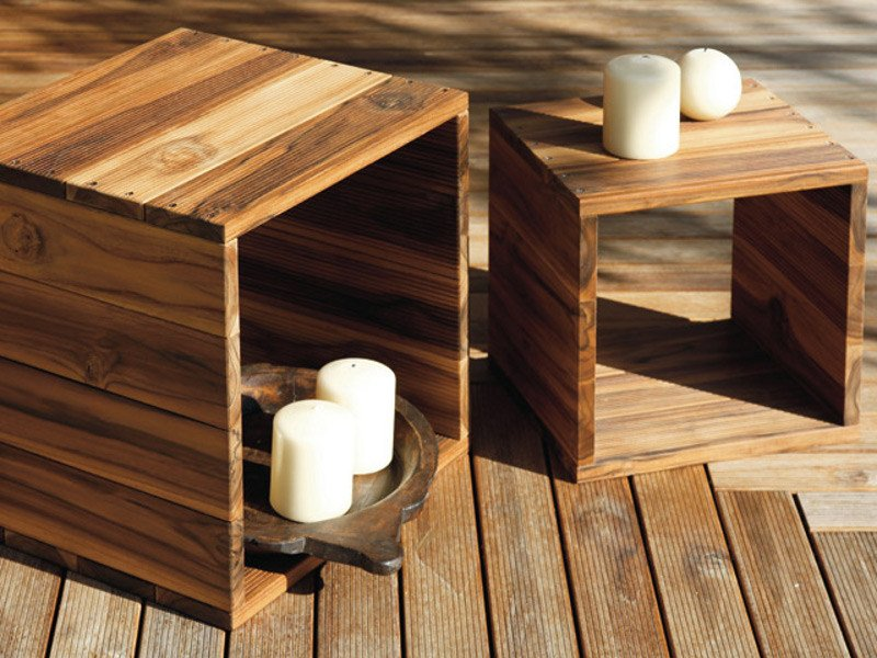 Wooden stool / coffee table TURTLE.03 by MENOTTI SPECCHIA
