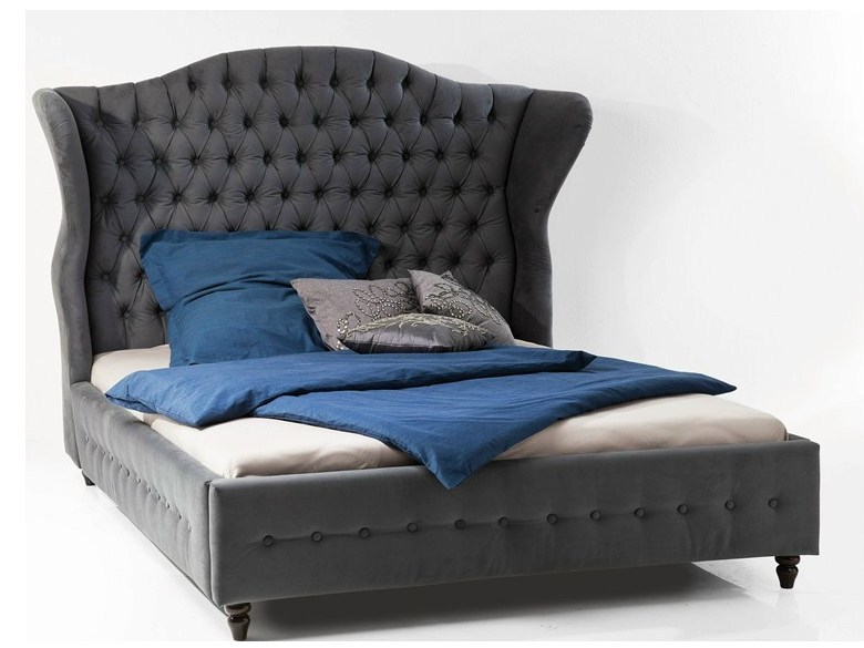 Fabric double bed with upholstered headboard CITY SPIRIT | Bed by KARE-DESIGN