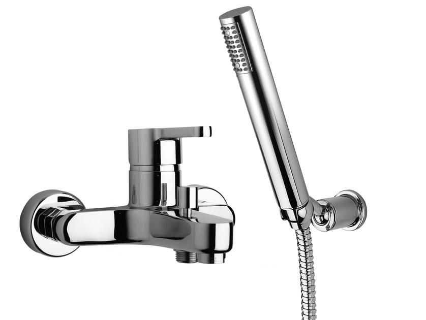 2 hole bathtub mixer with hand shower CORNER | Bathtub mixer by Rubinetteria Giulini