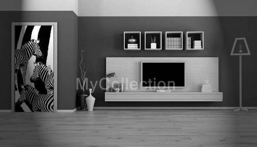 Door sticker Zebre by MyCollection.it