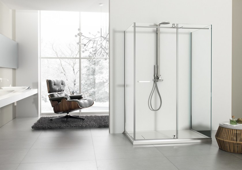 2 places shower cabin with tray SOLODOCCIA | 2 places shower cabin by MEGIUS