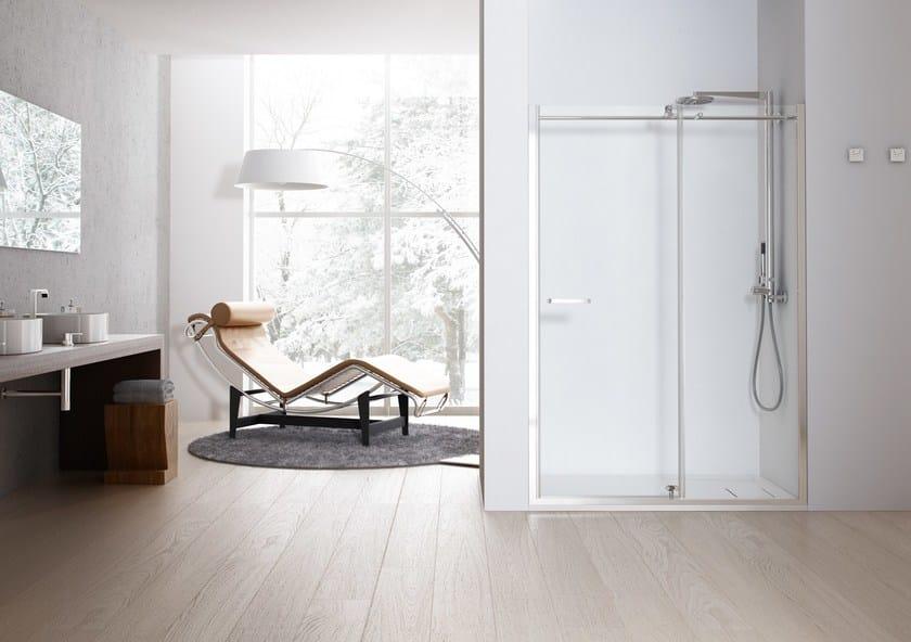 Niche shower cabin with hinged door SOLODOCCIA® PB1 by MEGIUS