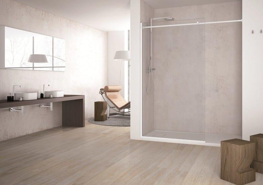 Glass shower wall panel SOLODOCCIA SEPARÈ SN0 by MEGIUS