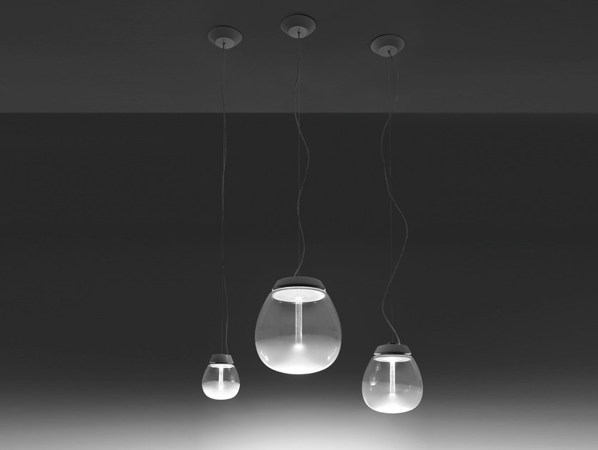 LED blown glass pendant lamp EMPATIA   Pendant lamp by Artemide