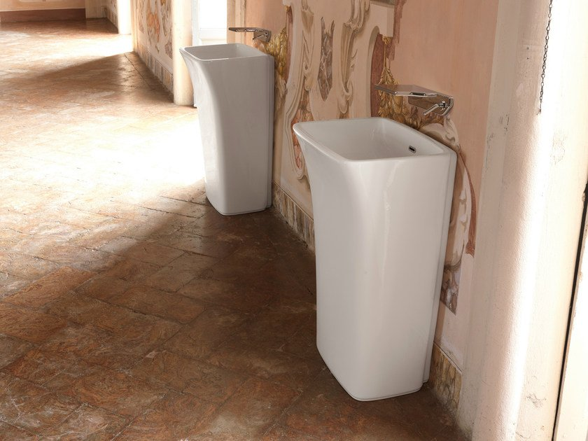 Freestanding rectangular single washbasin WASHBASINS   Freestanding washbasin by newform