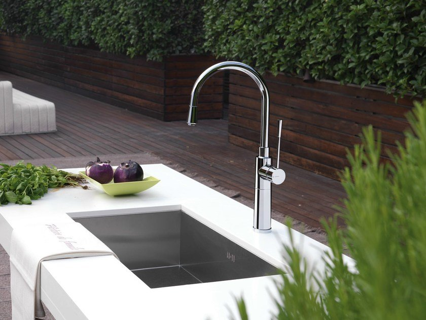 Kitchen mixer tap with pull out spray X-TREND KITCHEN | Kitchen mixer tap by newform