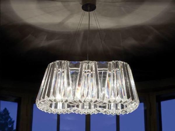 Indirect light glass chandelier GLITTERS | Chandelier by Lasvit