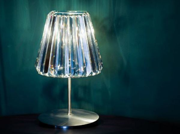 Indirect light glass table lamp GLITTERS | Table lamp by Lasvit