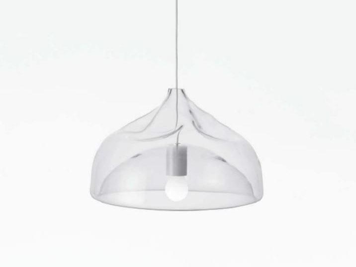 Direct light blown glass pendant lamp INHALE LAMP by Lasvit