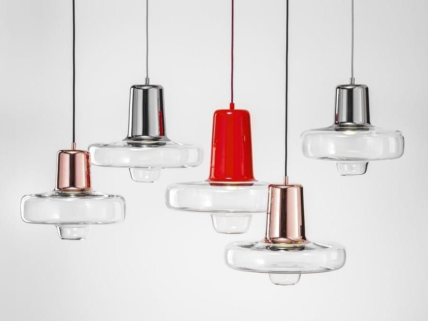 Lampade In Vetro Colorate : Lampada a sospensione a led in vetro colorato spin light by lasvit