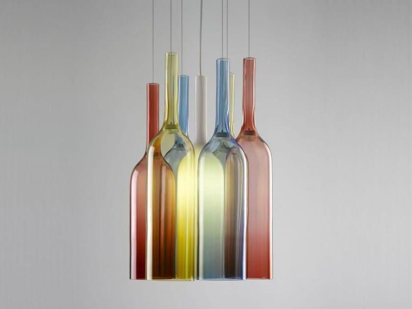 Stained glass chandelier JAR RGB by Lasvit