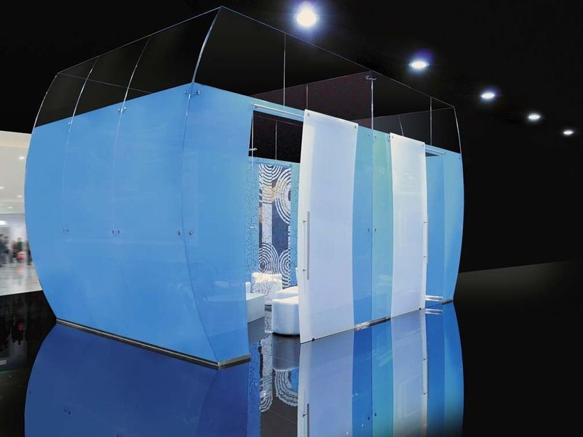Glass movable wall Aquarius by Casali