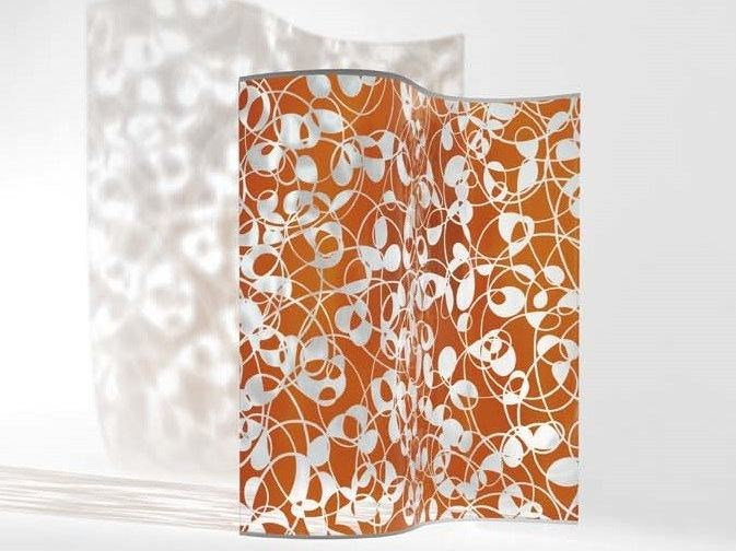 Stained glass room divider WAVE by Casali