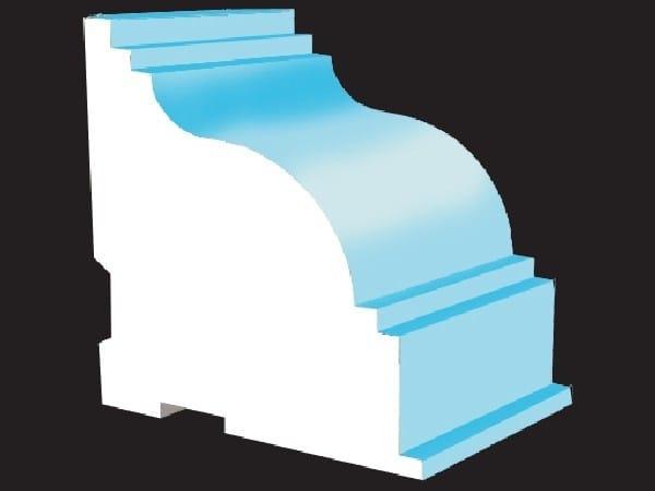 Polystyrene matrix for decorative element MATRIX® by Cabox