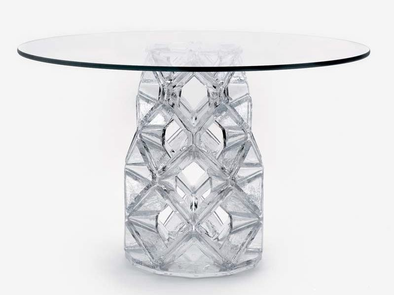 Round crystal table HOMUNE by Lasvit