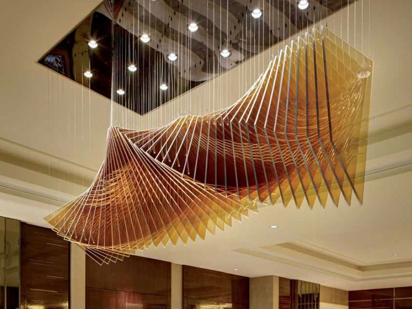 Indirect light glass chandelier SPIN by Lasvit