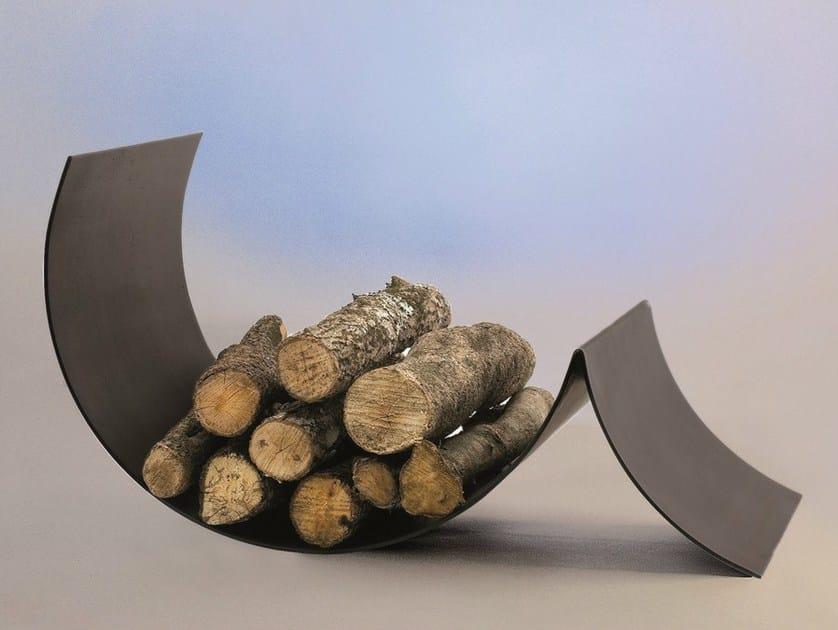 Steel Log holder UFOCUS by Focus creation
