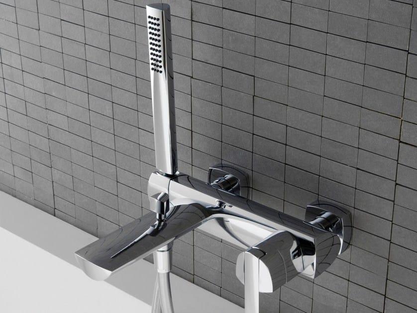 Wall-mounted steel bathtub mixer TANGO | Bathtub mixer by ZAZZERI
