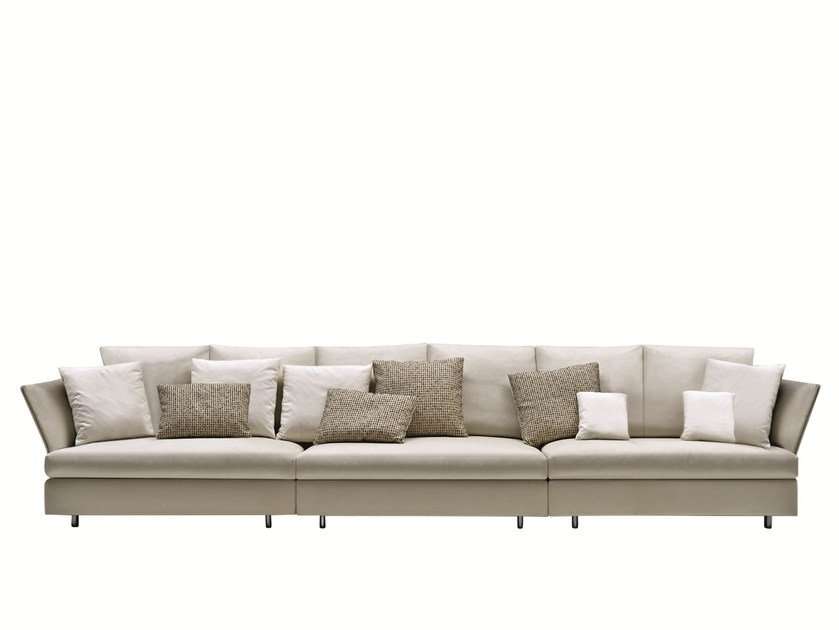 Leather sofa HOLIDAY | Leather sofa by Molteni
