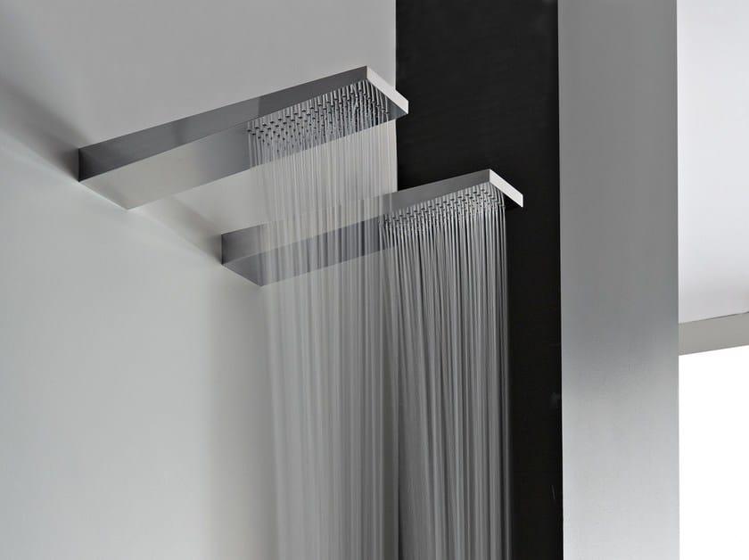 Wall-mounted 1-spray steel overhead shower 100   Overhead shower by ZAZZERI