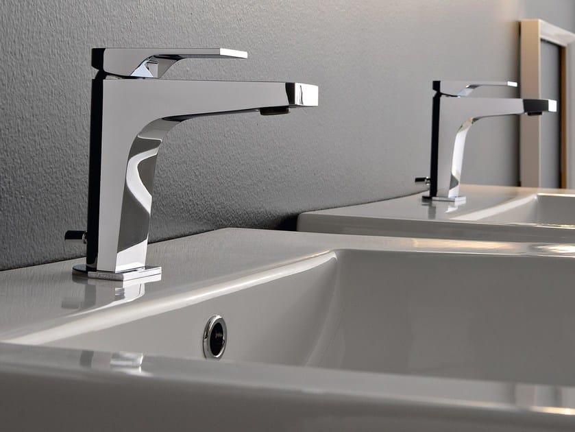 Countertop steel washbasin mixer 100 | Washbasin mixer by ZAZZERI