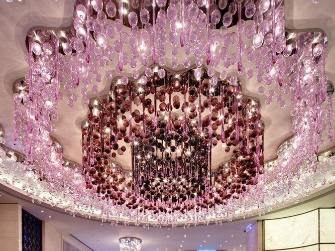 Design indirect light crystal chandelier VIOLET by Lasvit