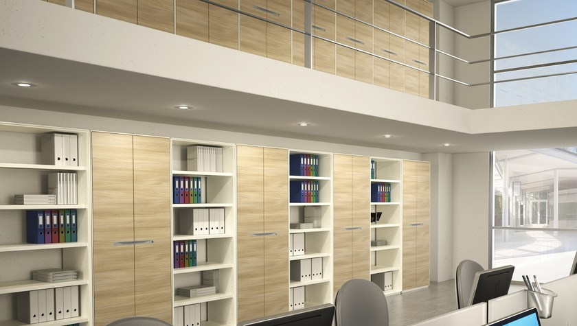 Tall wooden office shelving KBOX | Office shelving by TECNITALIA