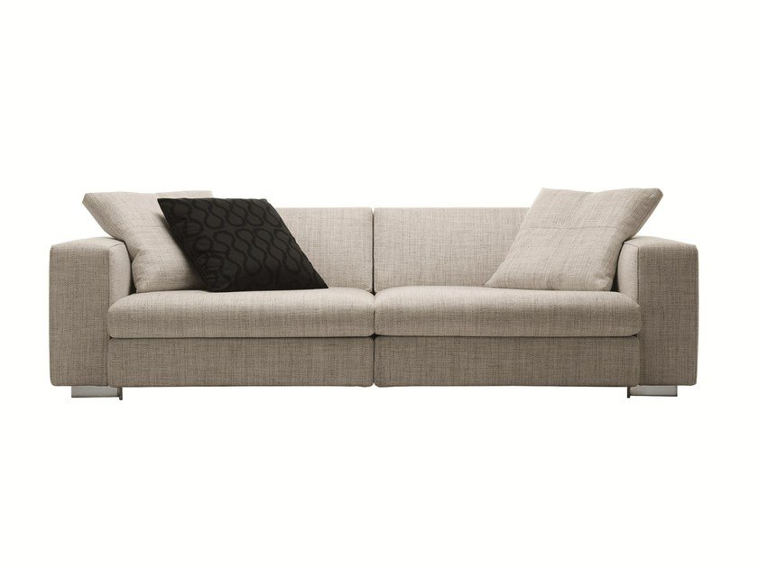 Sectional recliner fabric sofa TURNER by Molteni & C.