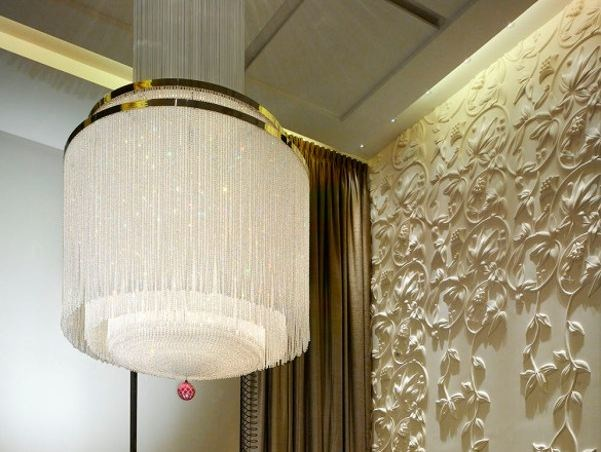 Deco glass chandelier LOVING ART DECO by Lasvit